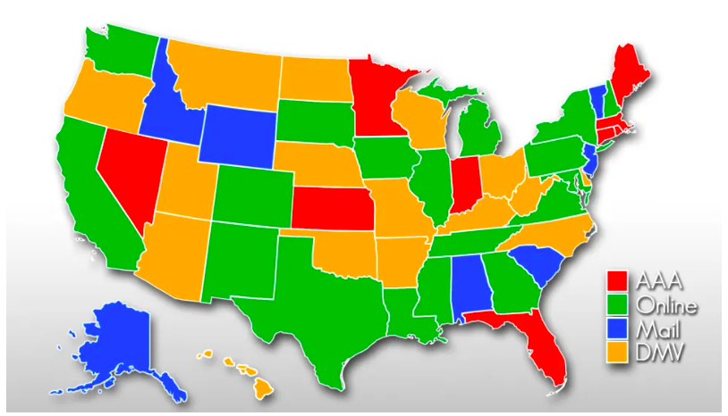 States where you can renew your Drivers licence at AAA